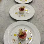 Cheesecake allo squaquerone con coulise di fragole
