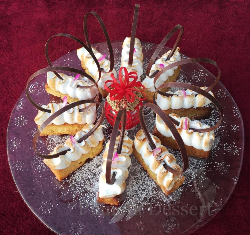 Foto dessert -Tortino mele e zenzero meringato