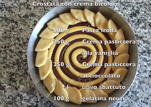 Video guida: crostata con crema bicolore