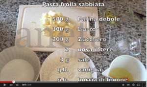 Video tutorial: come fare la pasta frolla con il metodo sabbiato