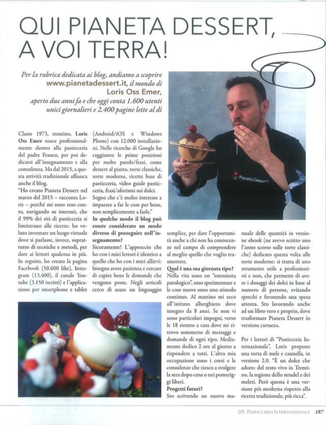 Loris Oss Emer - Pianeta Dessert - Pasticceria Internazionale