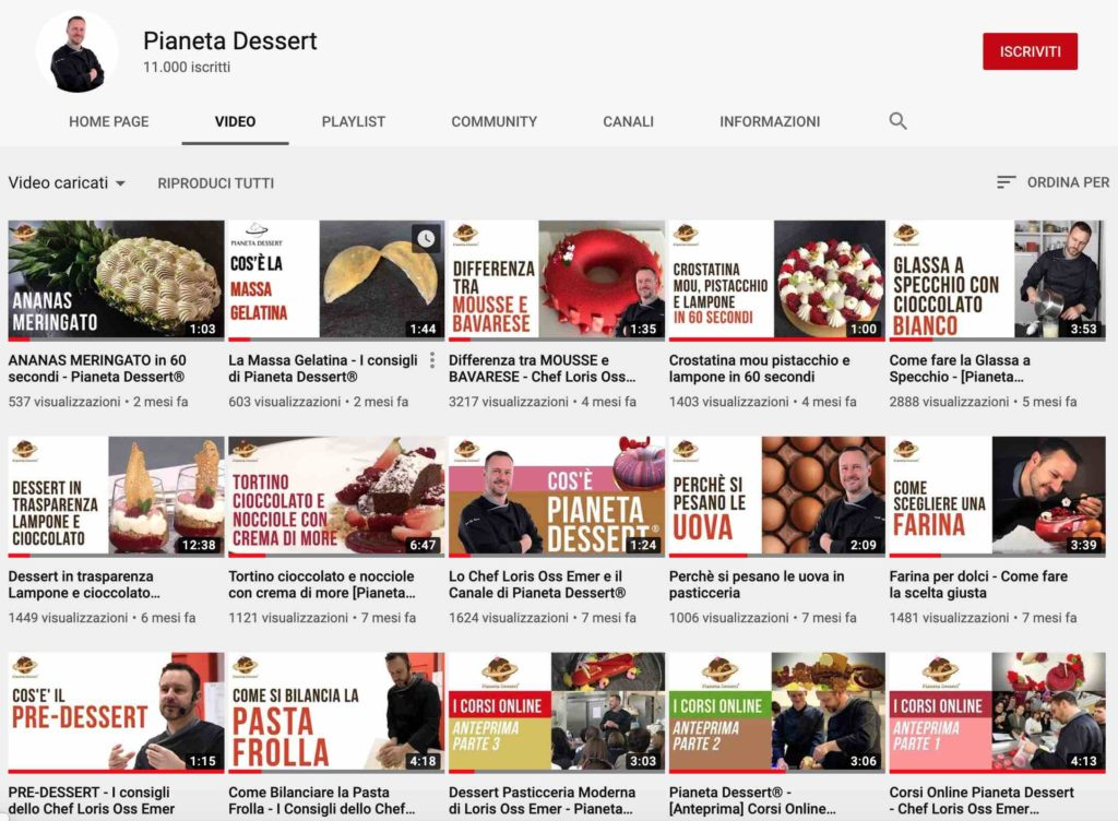 youtube pianeta dessert